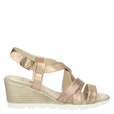 Hobb's dames sandalen rose goud