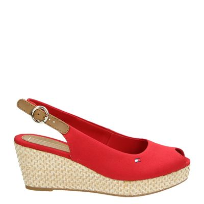 Tommy Hilfiger Sport dames sandalen rood