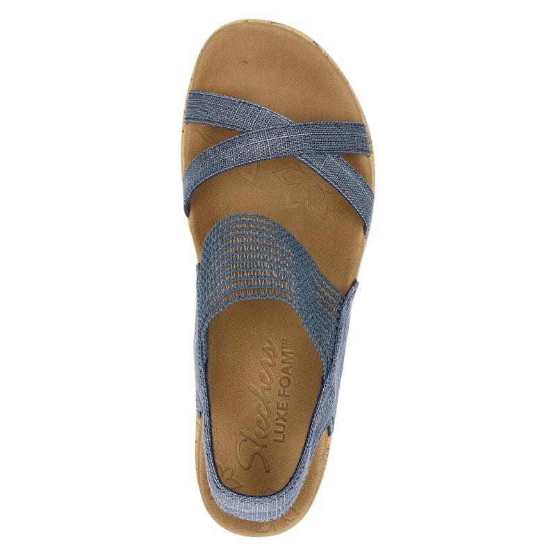 Skechers Beverlee - Sleehak - Blauw