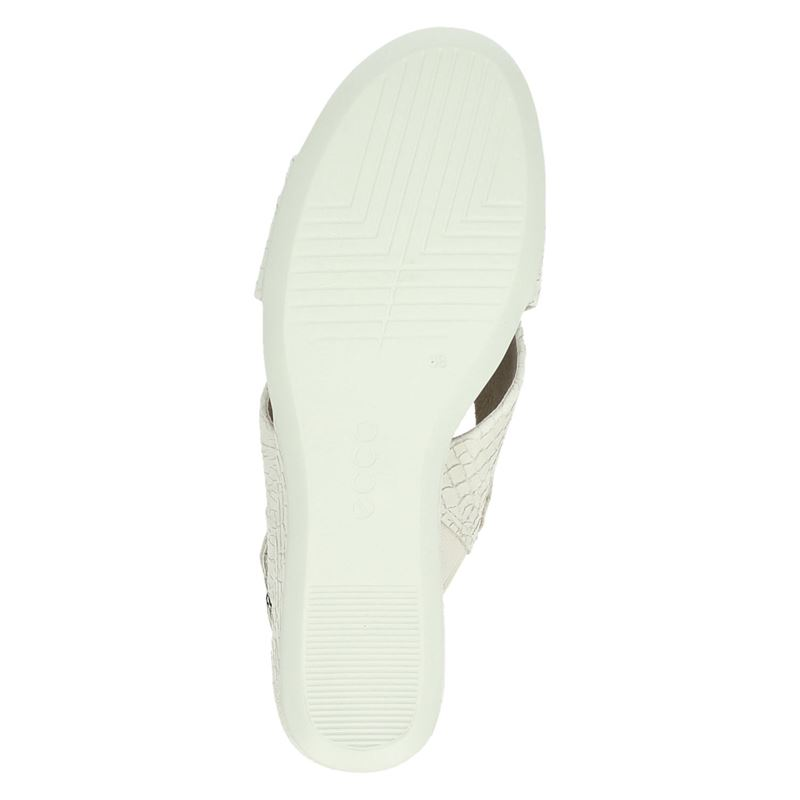 Ecco Shape 35 Wedge - Sandalen - Ecru