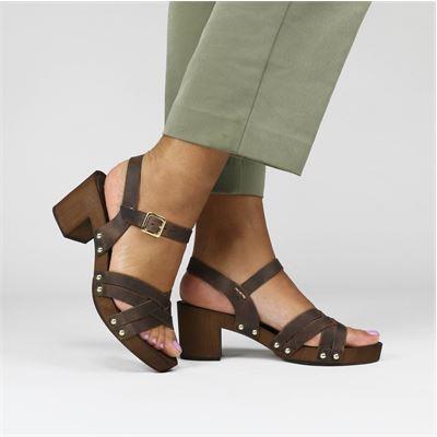 Nelson dames sandalen bruin
