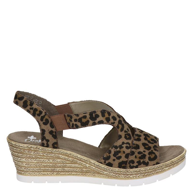 Rieker sandalettes panterprint online kopen