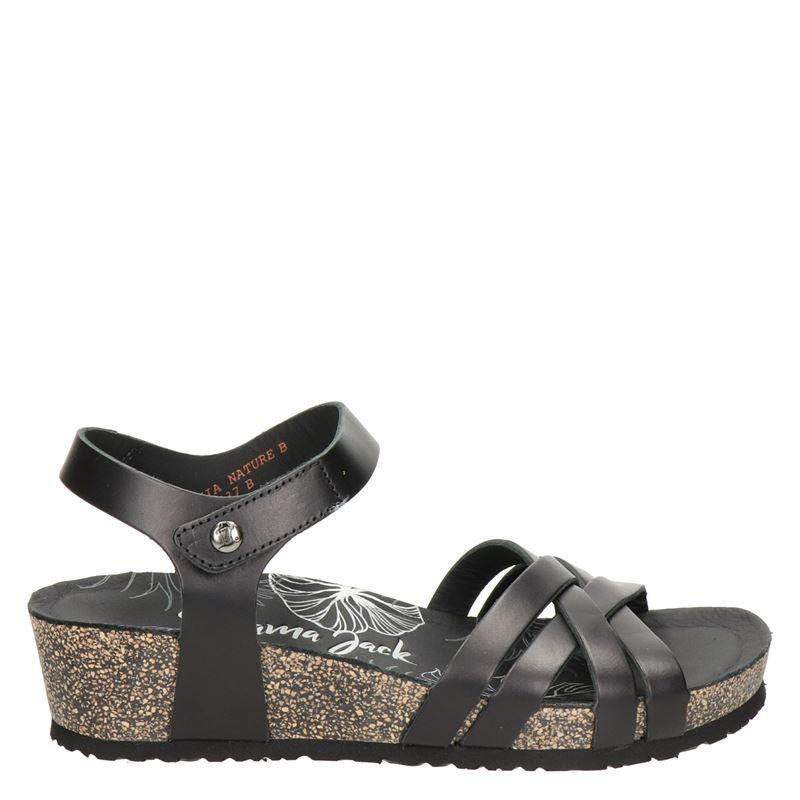 Panama Jack Chia Nature leren sandalen zwart online kopen