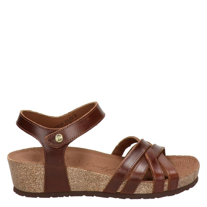 Panama Jack Chia Clay leren sandalen bruin online kopen