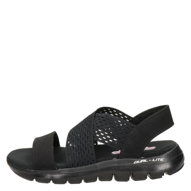 Skechers Flex Appeal 2.0 - Sandalen - Zwart