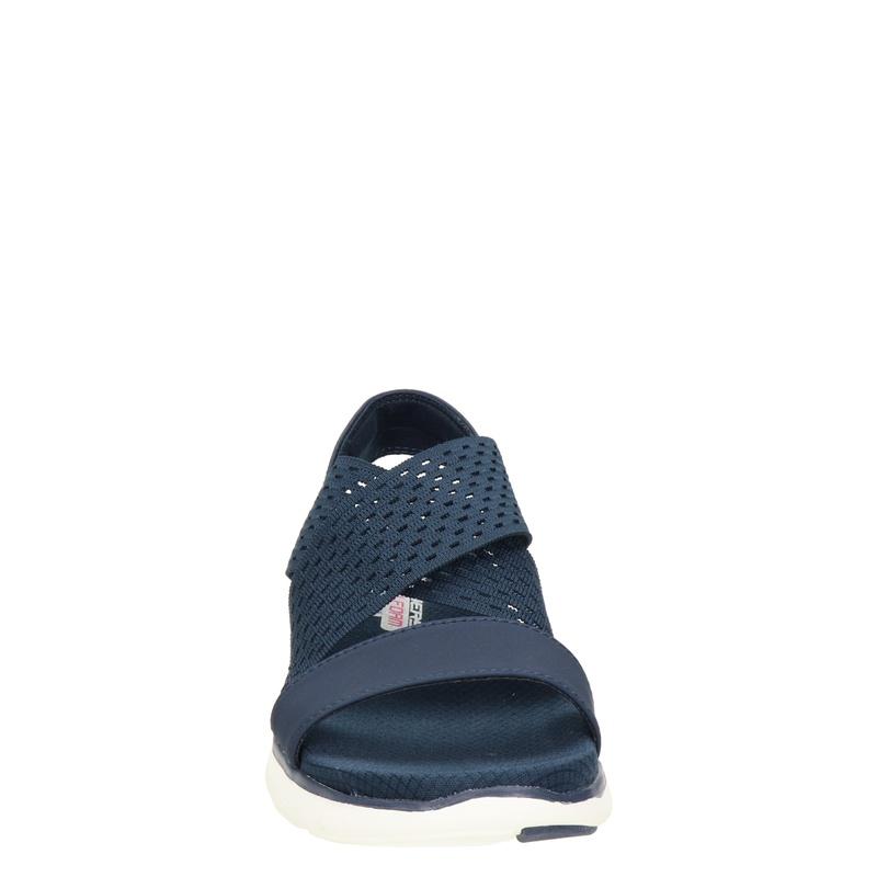 Skechers Flex Appeal 2.0 - Sandalen - Blauw