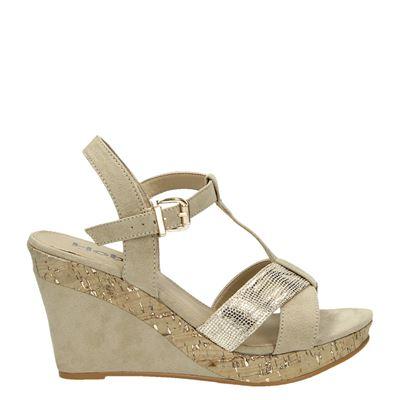 Hobb's dames sandaal op sleehak dames, de tijd van de open schoentjes gaat aanbreken. lak je teennagels en ga ...