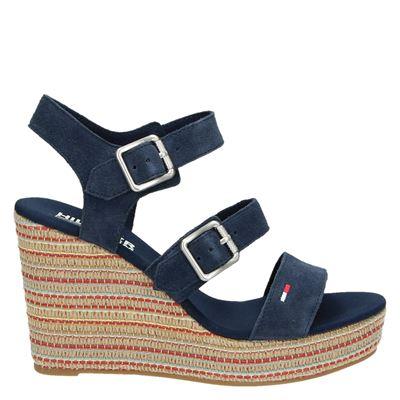 Hilfiger Denim dames sandalen blauw