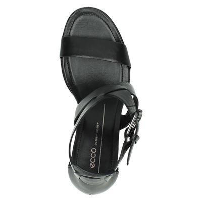 Ecco Shape 65 blockdames sandalen Zwart