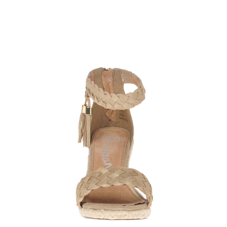 poelman dames sandalen goud. Black Bedroom Furniture Sets. Home Design Ideas