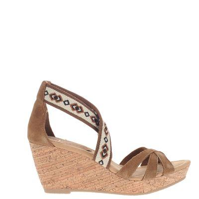 Minnetonka dames sandalen bruin