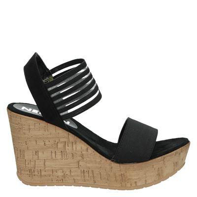 Nelson dames sandalen zwart