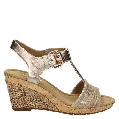 Femmes Gabor Rollingsoft Sandales Wedge - Brun - 39 Eu vYZJebQrH2