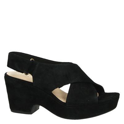 Clarks Maritsa Laradames sandalen Zwart
