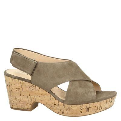 Clarks Maritsa Laradames sandalen Taupe
