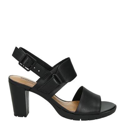 Clarks Kurtley Shinedames sandalen Zwart
