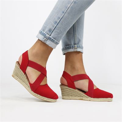 Nelson dames espadrilles rood
