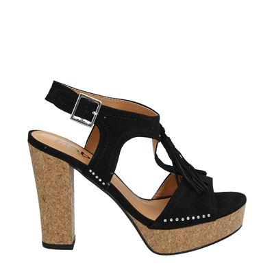 Hobb's dames sandalen zwart