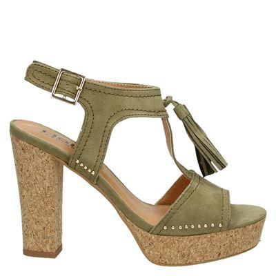 Hobb's dames sandalen kaki