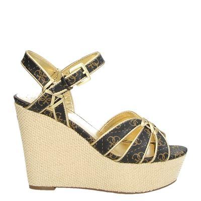 Guess dames sandalen bruin