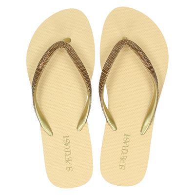 Supertrash dames slippers goud