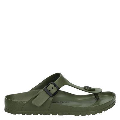 Birkenstock dames slippers groen