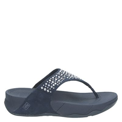 Fitflop dames slippers blauw