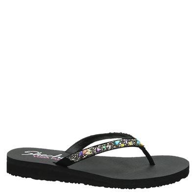 Skechers Yoga Foamdames slippers Zwart