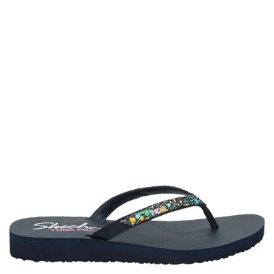 Skechers dames slippers blauw