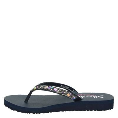 Skechers Yoga Foamdames slippers Blauw