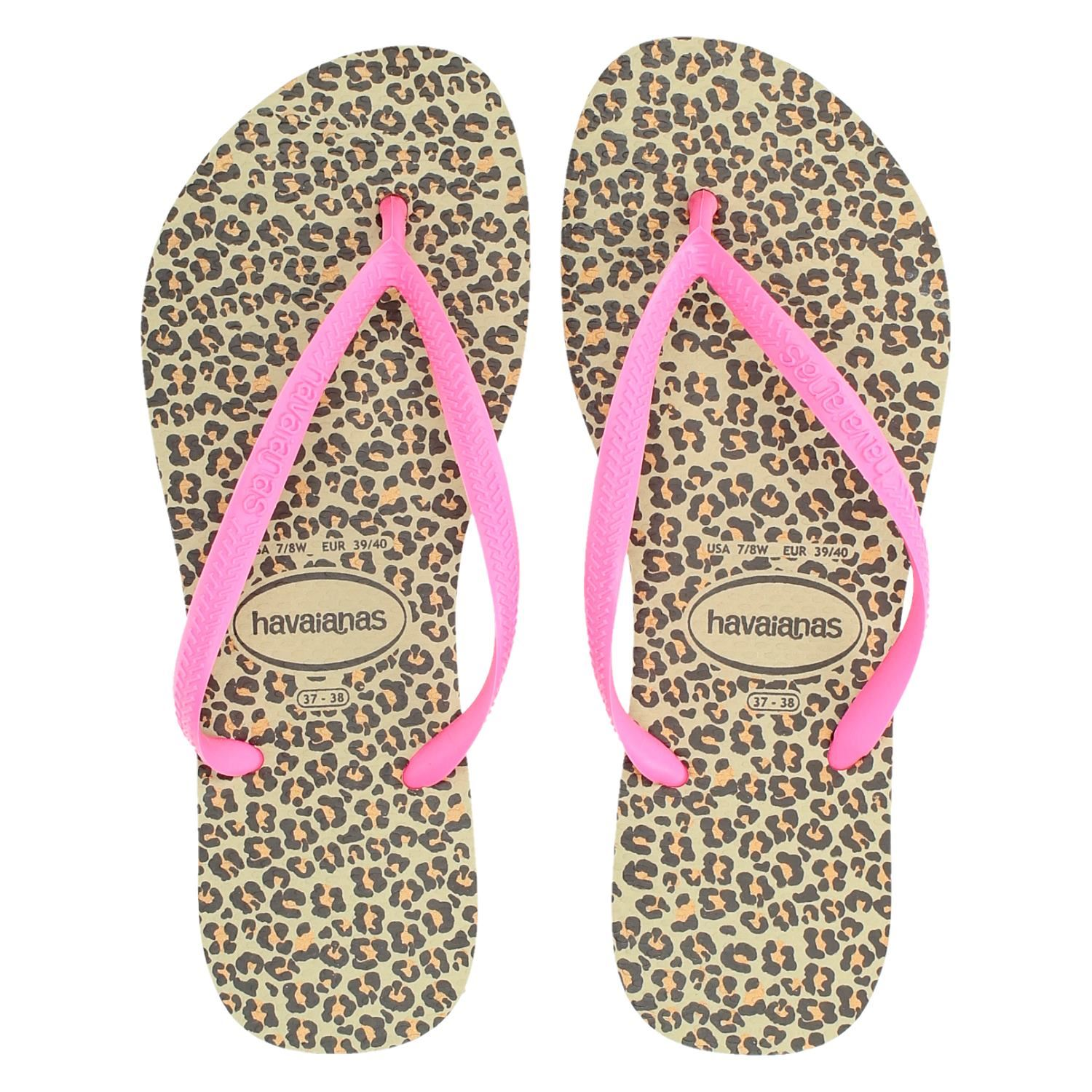 952c59afc9f Havaianas Slimanimal dames slippers roze