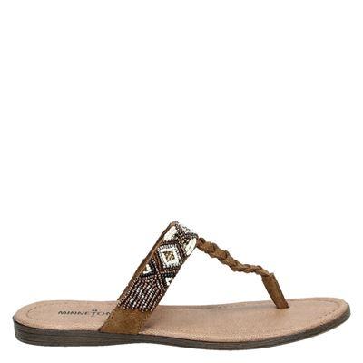Minnetonka dames slippers bruin