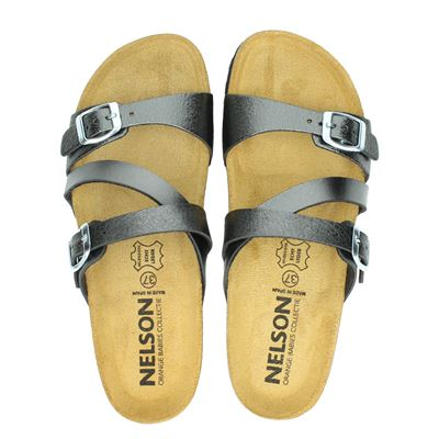 Nelson dames slippers brons