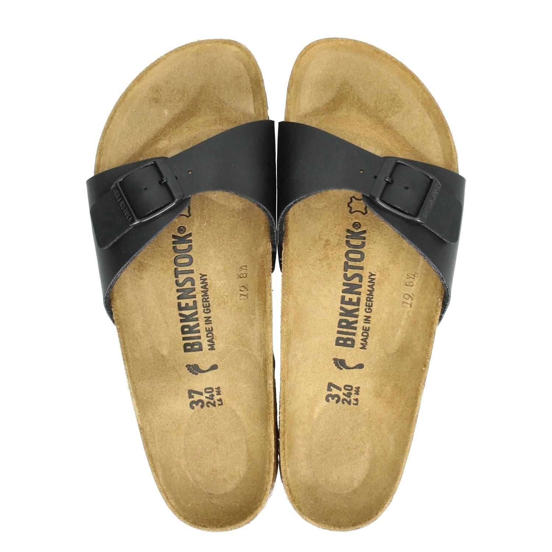 Birkenstock Madrid Chaussures Noires Avec Boucles Pour Femmes t9uEG7