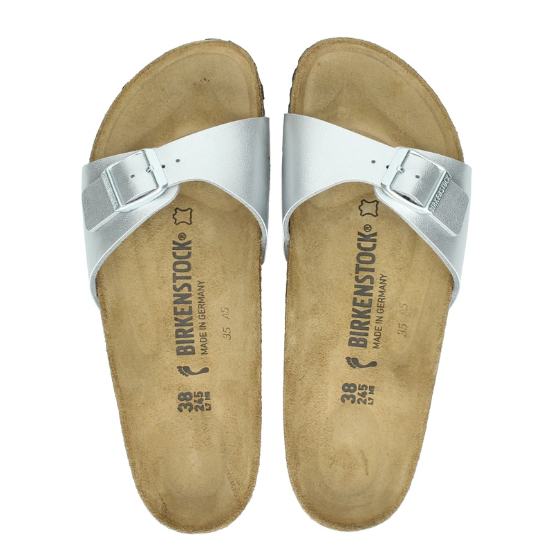 Birkenstock Madrid - Slippers - Zilver