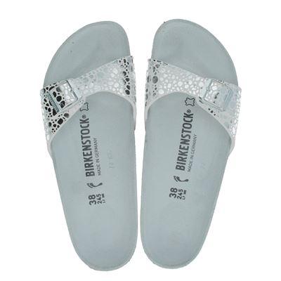 Birkenstock dames slippers licht grijs