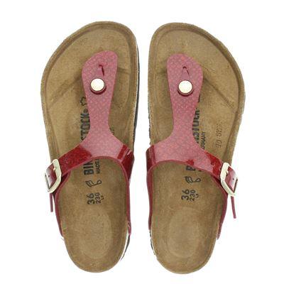 Birkenstock dames slippers rood