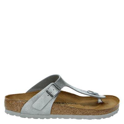 Birkenstock dames slippers grijs