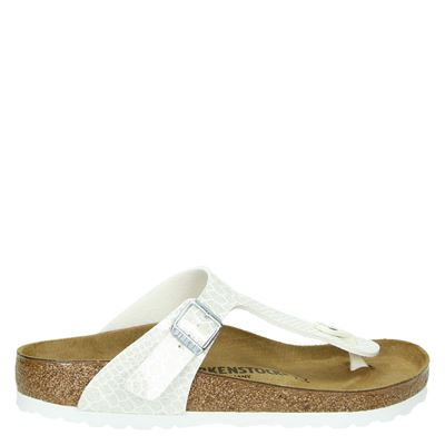 Birkenstock dames slippers zilver
