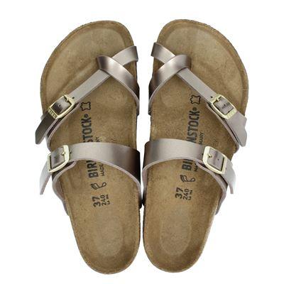 Birkenstock dames sandalen taupe