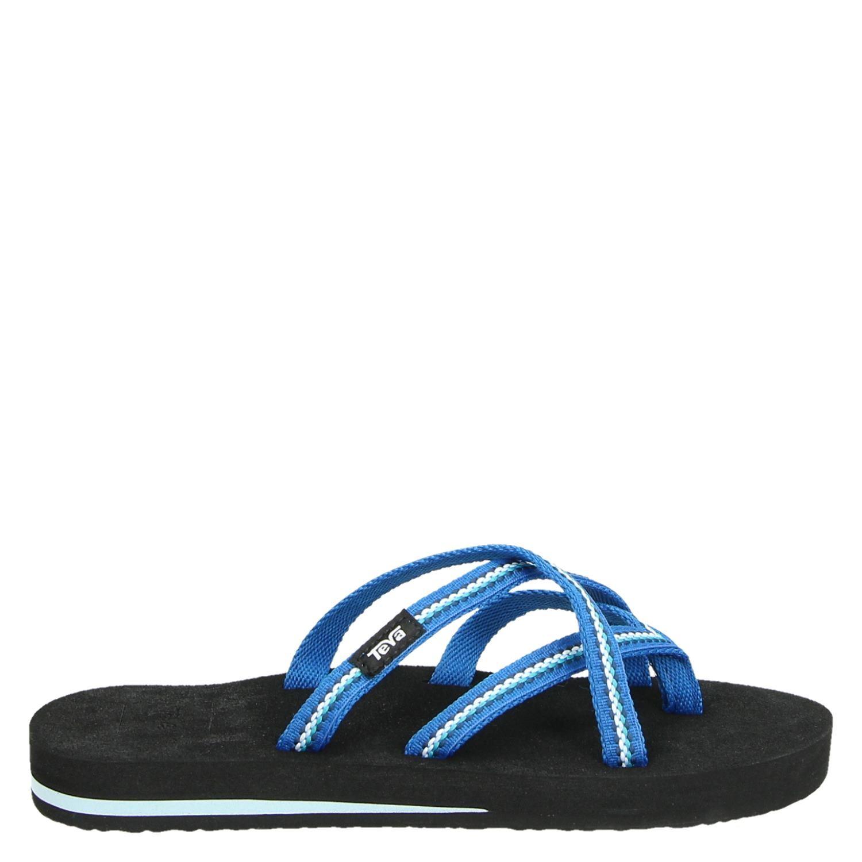 3ce34eea87da Teva Olowahu dames slippers blauw