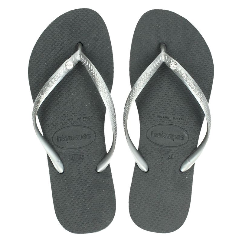 Havaianas Slim Crystal Glamour - Slippers - Grijs