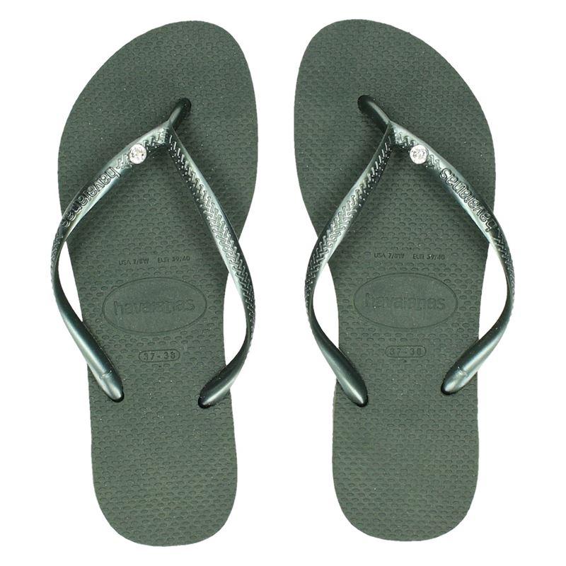 Havaianas Slim Crystal Glamour - Slippers - Groen