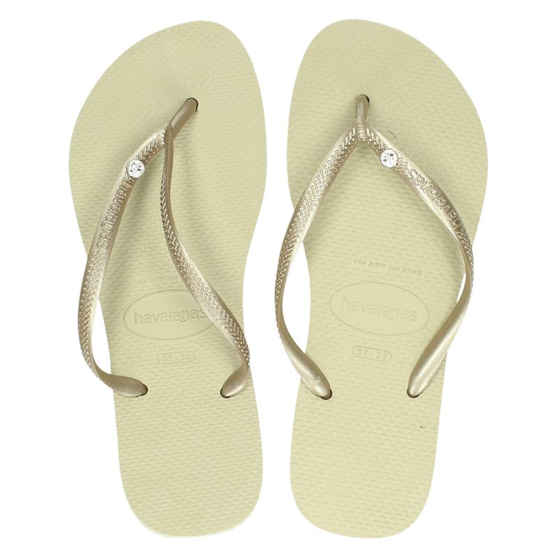 Havaianas Slim Crystal Glamour - Slippers - Goud