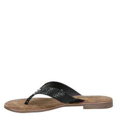 Lazamani dames slippers Zwart