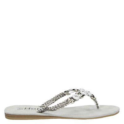 Hobb's dames slippers grijs