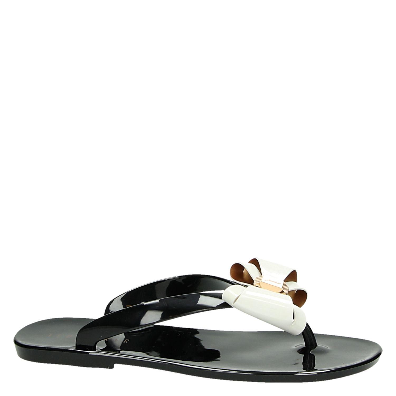 Ted Boulanger Sandale Avec Un Arc Noir RY2PM8Bvyw