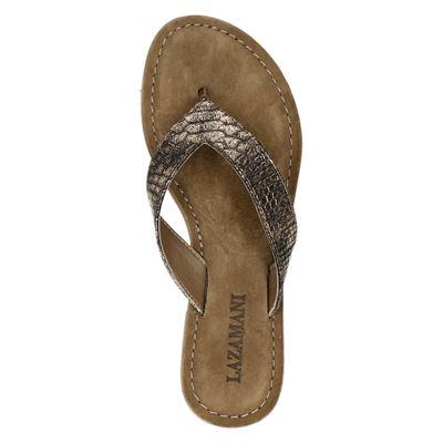Lazamani dames slippers Goud