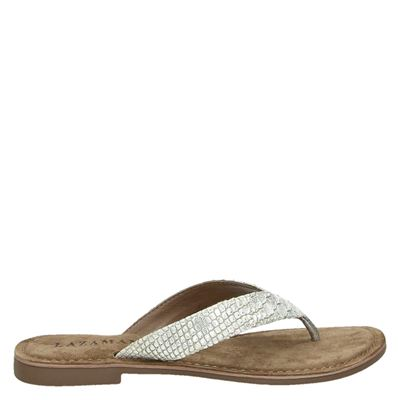Lazamani dames slippers zilver