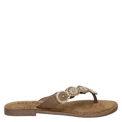 Lazamani dames slippers beige